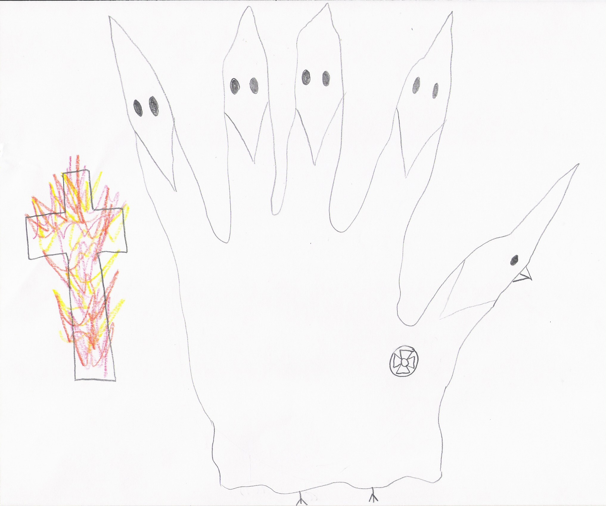 how to draw a hand turkey